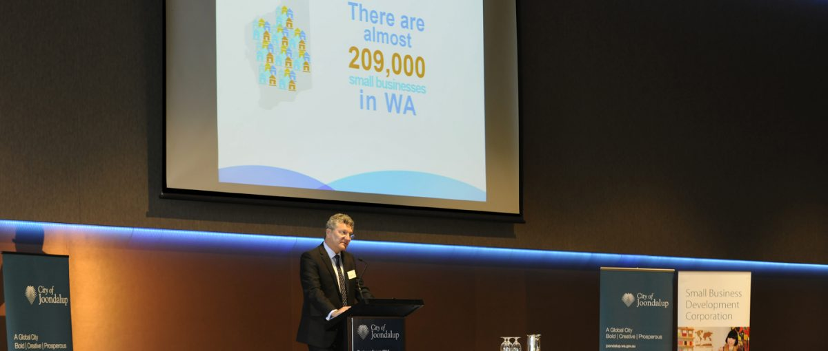 David Eaton at the small business is big business forum