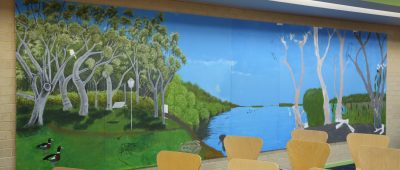 Mike Bamford, Yellagonga Community Mural, Woodvale Library 2016