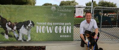 Fenced dog exercise area for all pooches big and small