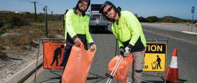 Waste and litter crews soldier on