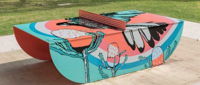 New murals at Neil Hawkins Park, Picnic Cove Park, and Geneff Park